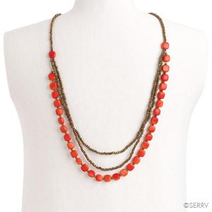 Tangerine Tagua Necklace