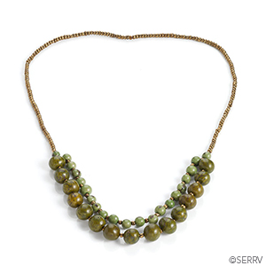 Palm Bead Necklace