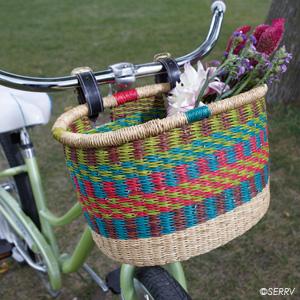 Bright Stripe Bolgatanga Bike Basket