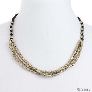 Brassy Bead Necklace
