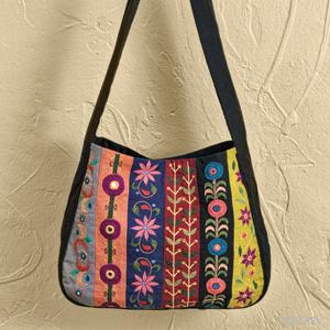 Floral Colorblock Bag