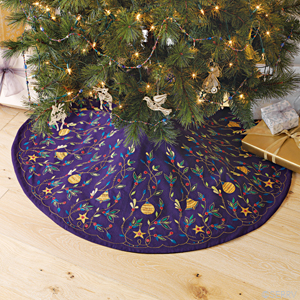 Embroidered Tree Skirt