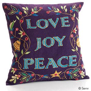 Love Joy Peace Pillow