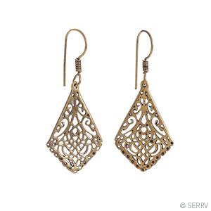 Brass Jali Earrings