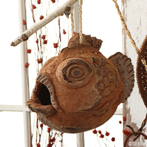 Fish Coconut Birdhouse