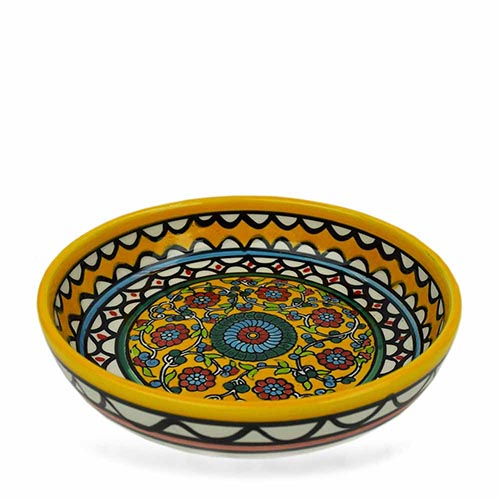 Yellow Floral Bowl