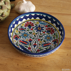 West Bank Blue Floral Bowl