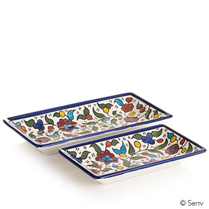 Set of 2 Appetizer Trays