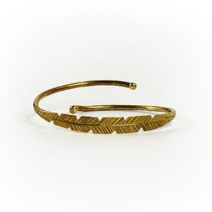 Brass Leaf Cuff