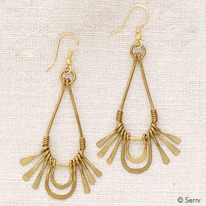 Golden Rays Earrings