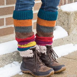 Bright Stripe Himalaya Leg Warmers