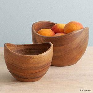 Acacia Contour Bowls