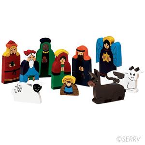Bright Wood Nativity