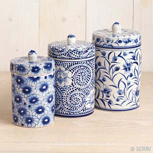 Blue Meadow Canister Set