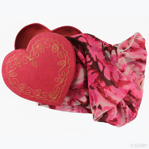 Rose Kaleidoscope Scarf Gift Box