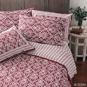 Home decor burgundy jaipur bedding for Home decor jaipur