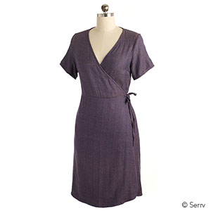 Meredith Wrap Dress - Lilac