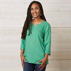 Reena Top - Emerald Green