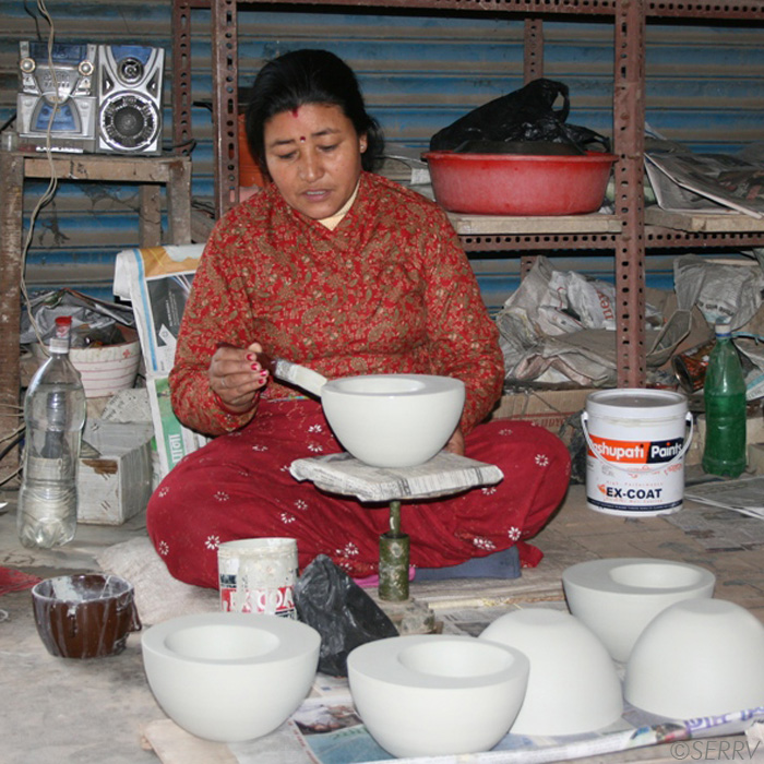Gift donations nepal a safer high fired kiln for for Kitchen decoration nepal