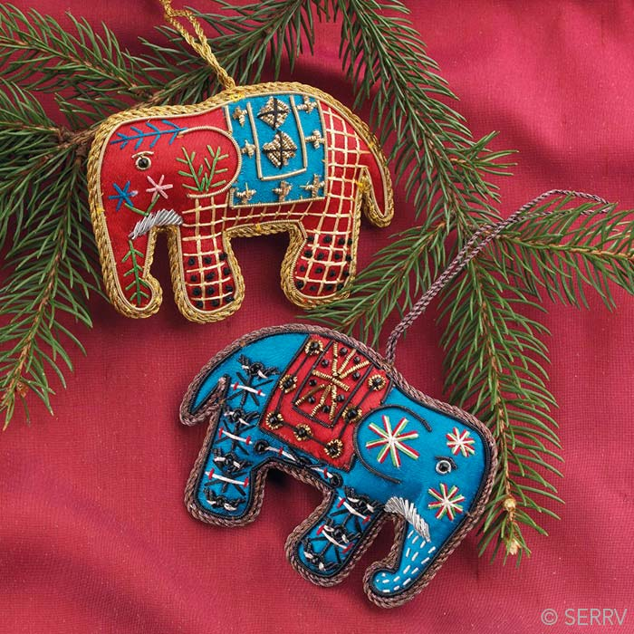 Christmas Ornaments - Indian Elephant Ornament Set