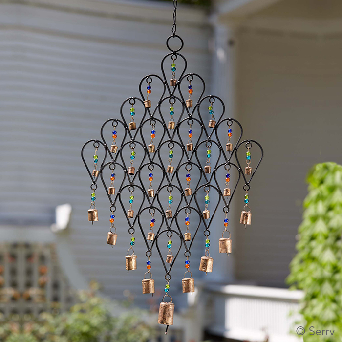 Wedding recycled iron wind chime for Wind chimes from recycled materials