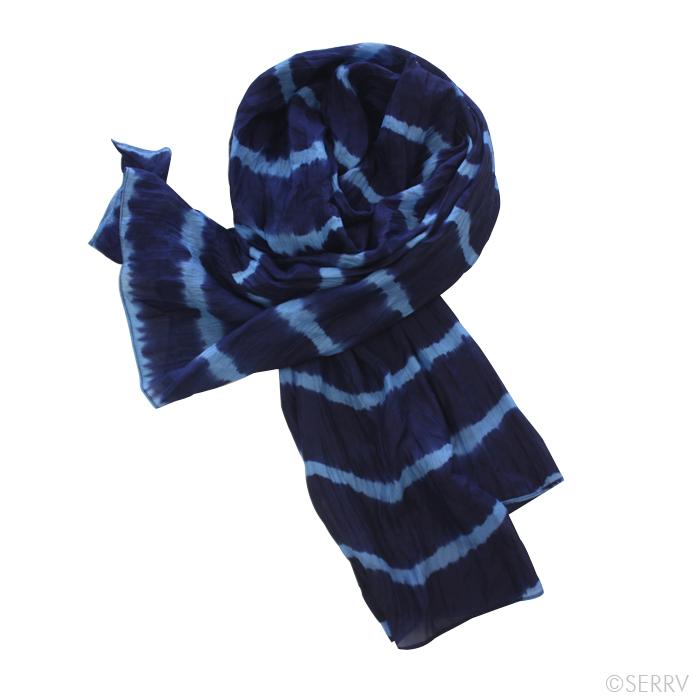 scarves indigo striped scarf