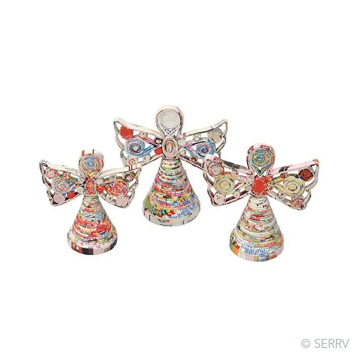 Decor colorwrap paper angels for Angels decorations home