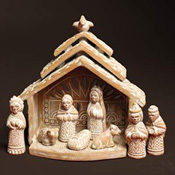 Whitewashed Nativity