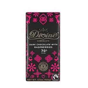 70% Dark Chocolate Raspberries Large Bar Case
