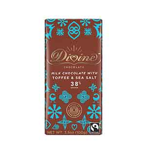 38% Milk Chocolate with Toffee & Sea Salt Large Bar Case