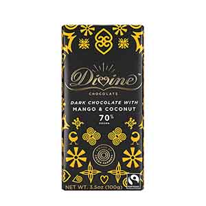 70% Dark Chocolate with Mango & Coconut Large Bar Case