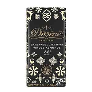70% Dark Chocolate Whole Almonds Large Bar Case