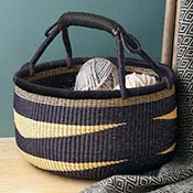 Naturally Navy Bolgatanga Basket