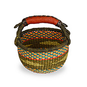 Small Olive & Orange Bolga Basket