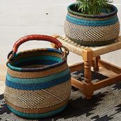 Set of 2 Blue & Teal Baskets