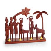 Padauk Tea Light Nativity