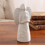 Small Stone Garland Angel