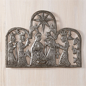 Metal Wall Nativity