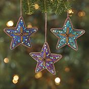 Zari Star Ornament Set