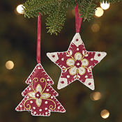 Felt Tree & Star Ornament Set