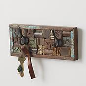 Reclaimed Wood Block Wall Hanger
