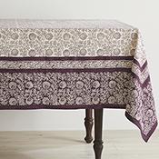 Aubergine Wildflower Tablecloth