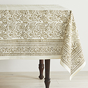 Olive Wildflower Tablecloth