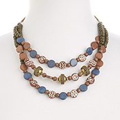 Multistrand Batik Necklace