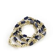 Lapis Bead Bracelet Set