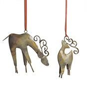 parent child reindeer ornament