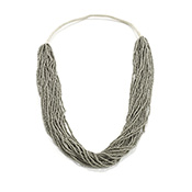 Silvery Sage Seed Bead Necklace