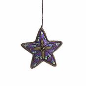 Purple Star Zari Ornament
