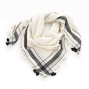 Embroidered Handkerchief Scarf