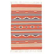 Coral Kilim Flat Weave Rug